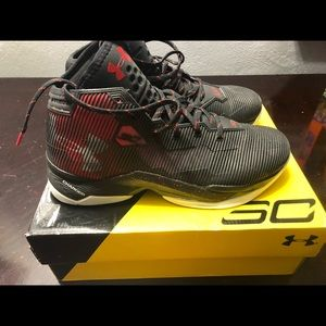 Men's Under Armour Steph Curry basketball shoes.